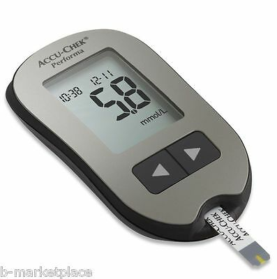Glucometer Accu-Chek Performa Diabetics NEW + 60 Test Strips Sealed Diabetes
