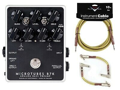 New Darkglass Microtubes B7K V2 Analog Bass Preamp Pedal!  MTB7K Fender Cables!