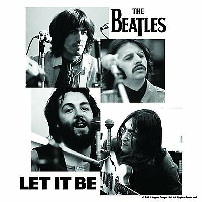 The Beatles Let It Be Single Drinks Coaster Gift Band Album Fan