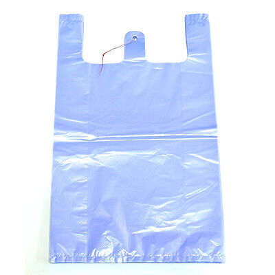 """KS Chemical 10 x 17"""" 100 Sheets Disposable Plastic Grocery Vinyl Shopping Bags"""