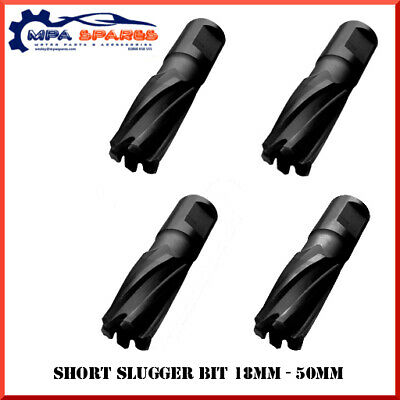 25mm DEPTH BLACK CUT MAG SLUGGER DRILL BITS 12 - 50mm DIAMETER