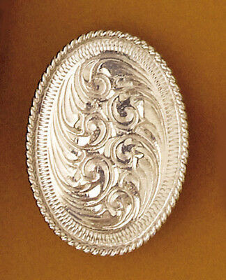 NEW! Western Scarf Slide - Silver Engraved Oval