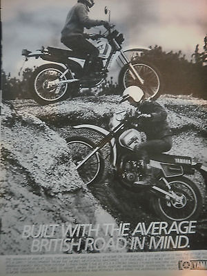 "YAMAHA DT175 / XT175 # ORIGINAL VINTAGE MOTORCYCLE ADVERT # 11"" x 8"""
