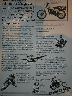 "CAGIVA SXT 125 # ORIGINAL VINTAGE MOTORCYCLE ADVERT # 11"" x 8"""