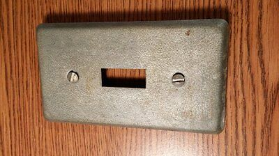 Vintage Steel City Light Switch Cover & Screws