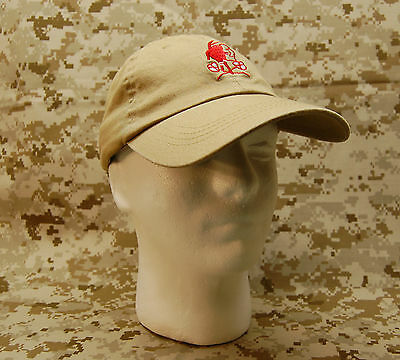 NSWDG Red Squadron Tan Baseball Cap DEVGRU Navy SEAL Red Team Ball Cap SML/MED