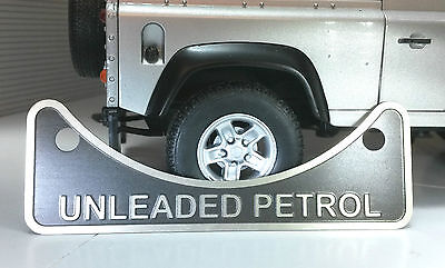 Land Rover Defender 90 110 2.5 V8 Unleaded Petrol Fuel Filler Label Badge 502951