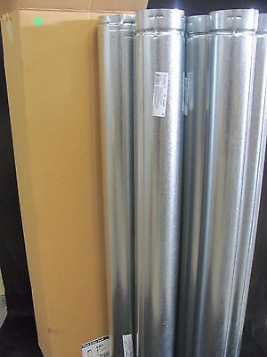 """DuraVent 4GV48 4"""" x 48"""" Round Vent Pipe Type B - Lot of 6"""