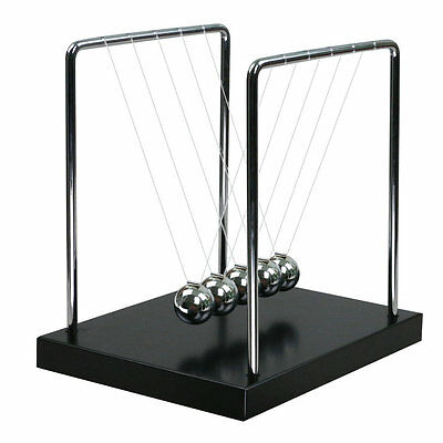 US Stock Newton Cradle Balance Ball Science Psychology Pendulum Desk Toy Gift