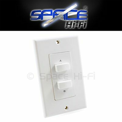 2 Way Stereo Speaker Selector Switch Wall Plate