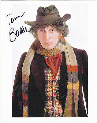 Tom Baker Signed 8X10 Color Photo Doctor Who The Fourth Doctor Autograph