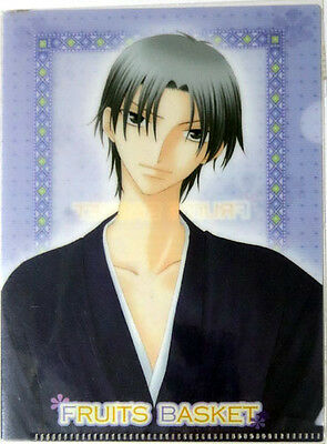 Fruits Basket Shigure Mini Clear File Folder Plastic Anime NEW