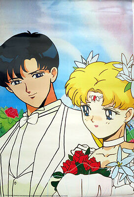 Sailor Moon Endymion and Serenity Wedding Paper Poster Anime MINT
