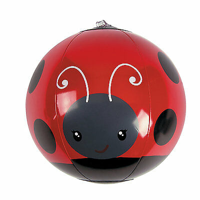 5 Inch Inflatable Blow Up Mini Novelty Ladybird Ladybug Insect Kids Beach Ball