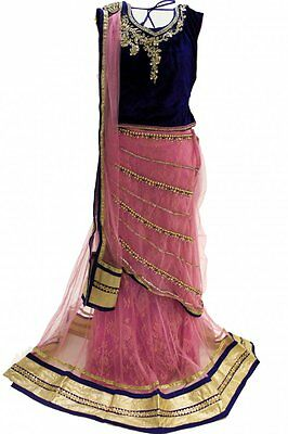 GLC2161 Blue and Light Pink Girl's Lengha Choli  Indian Bollywood Fancy Dress