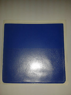 Parking Permit Window Stick Holder In Blue Pvc + Extra Pock For Card