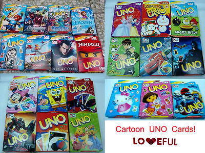 New Cutely Cartoon UNO Card Game Paper Playing Card Family Fun Party Gifts
