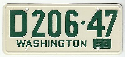 [57607] 1953 General Mills Cereal Prize Washington License Plate