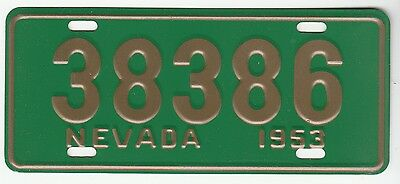 [57608] 1953 General Mills Cereal Prize Nevada License Plate