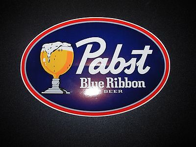 PABST BLUE RIBBON Oval Full Glass LOGO STICKER decal craft beer brewery brewing