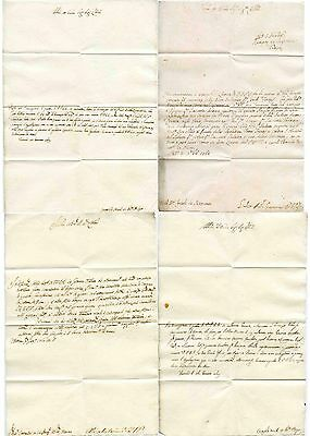 Italy 1760-69 Letters...4 Items...watermarked Paper