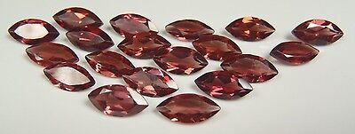 NATURAL GEM COLLECTION/PARCEL LOT 11.1ct 19pcs GARNET purplish red 8x4mm