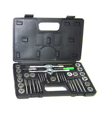 40pc Tap and Die Set  SAE  Thread Renewing Tools re-thread Standard Inches