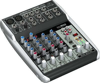 Behringer XENYX Q802USB 8-Input Mixer with USB Audio Interface