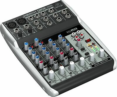 Behringer XENYX Q802USB Compact 8 Input USB Mixer with Audio Interface