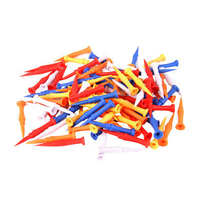 100x Professional Plastic Step Castle Golf Tees Assorted Color 75mm (3 inch)