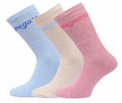 Regatta ladies womens Pack of 3 (3 pairs) walking hiking sock socks
