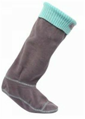 Regatta ladies womens warm fleece knitted cuff wellington welly liner socks