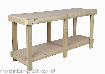 New 6 Ft Work Bench Wooden Workbench Heavy Duty Strong & Sturdy