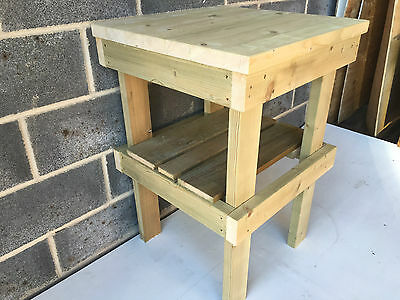 New 2Ft Square Work Table Workbench Wooden