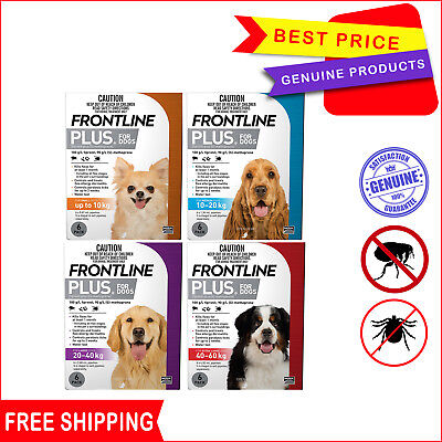 Frontline Plus 6 Pipettes Flea and Tick Treatment for Dogs All sizes by Merial