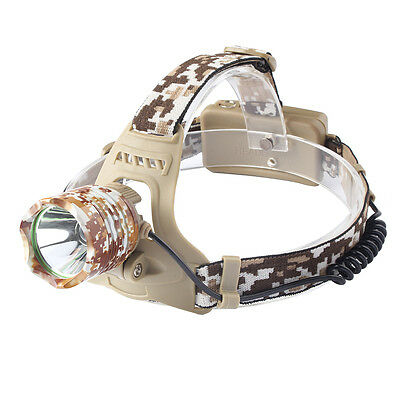 3000LM XM-L T6 LED Head Torch Camouflage Headlamp Rechargeable Head light 18650