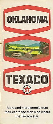 1969 TEXACO Gas Station Locator Road Map OKLAHOMA Route 66 Tulsa Enid Muskogee