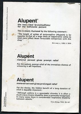 C1960's Advertising Greeting Card 'Alupent' for Asthmatic Conditions
