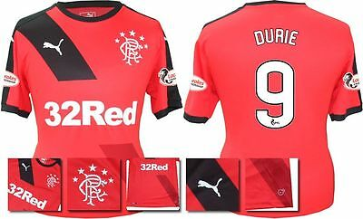 *15 / 16 - Puma ; Rangers Away Shirt Ss + Patches / Durie 9 = Size*