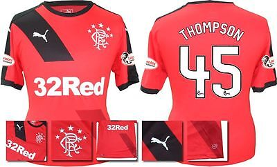 *15 / 16 - Puma ; Rangers Away Shirt Ss + Patches / Thompson 45 = Size*