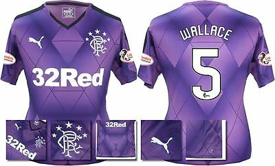 *15 / 16 - PUMA ; RANGERS 3rd KIT SHIRT SS + PATCHES / WALLACE 5 = SIZE*