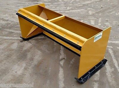 6' Pullback Snow Pushers FREE SHIPPING skid steer backhoe snow plow Bobcat