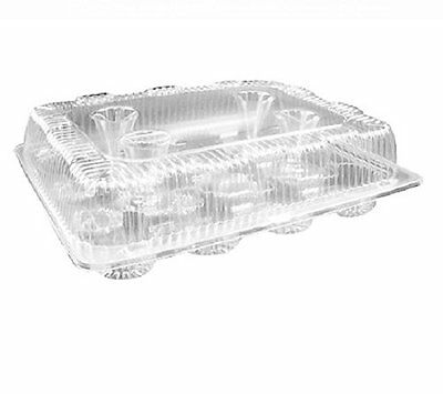 Oasis Supply PJP LBH-9222-12 -Compartment Cupcake Container W/ Hinged Lid, Cl