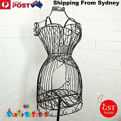 Female Mannequin Vingtage Style Iron WIRE DRESS FORM BOUTIQUE HOLDER DISPLAY
