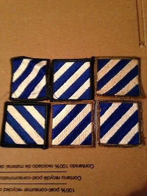 U S Army Third Infantry Patches Lot Of 6