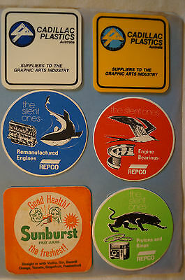 Collectable - Vintage - Group Lot of 12 Various - Advertising Coasters