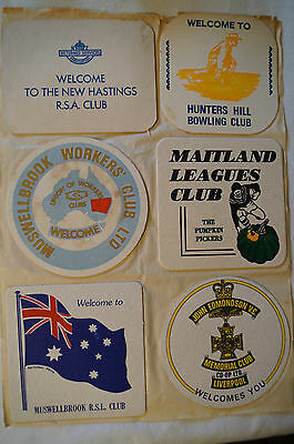 Collectable - Vintage - Group Lot of 12 Various - Club Coasters