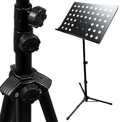 Adjustable Folding Sheet Music Stand Score Holder Mount Tripod H2