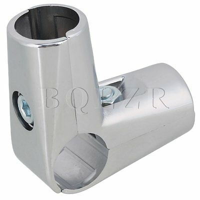 25mm Display Rack Clamp Pipe Fittings Scaffold Elbow Tube Connector 3 Way Silver