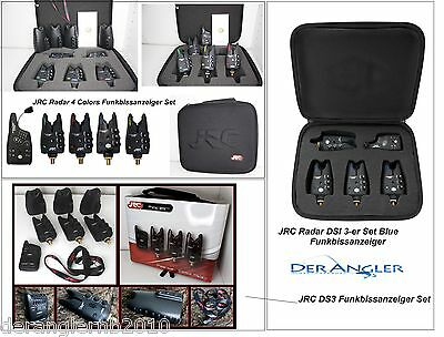 JRC Radar DS3 DSi 3er 4er Funkbissanzeiger Set Multicolor Blue Bissanzeiger Bag